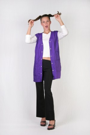 Dark  Purple Stylist Vest