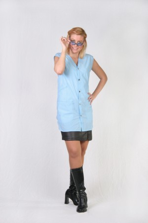 Powder Blue Stylist Vest