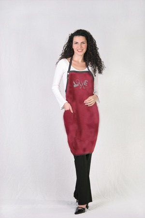 Burgundy Love Nail Tech Apron