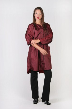Burgundy Kamize Big Shirt