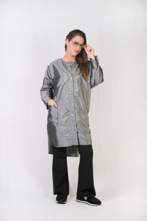 Silver Kamize Big Shirt