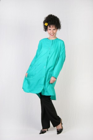Blue Teal Kamize Big Shirt