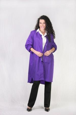 light purple client stylist cover up