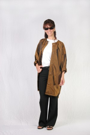 Brown Mustard Kamize Big Shirt
