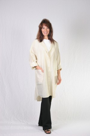 Antique White Kamize Big Shirt