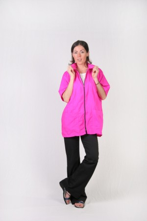 Fuschia Barber Nail Tech Jacket