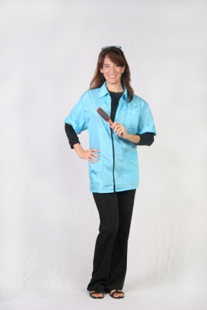 Turquoise Barber Nail Tech Jacket