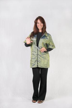 Olive Barber Nail Tech Jacket-1