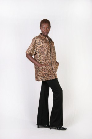 Leopard Print Barber Nail Tech Jacket