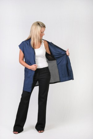 navy stylist vest