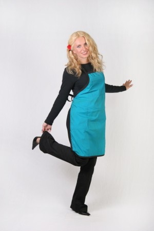 Blue Teal Stylist / Nail Tech Apron