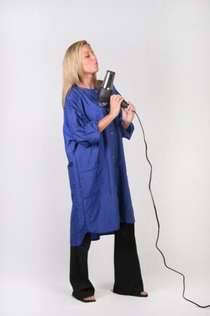 Indigo Blue Kamize Big Shirt