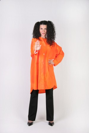 Orange Kamize Big Shirt