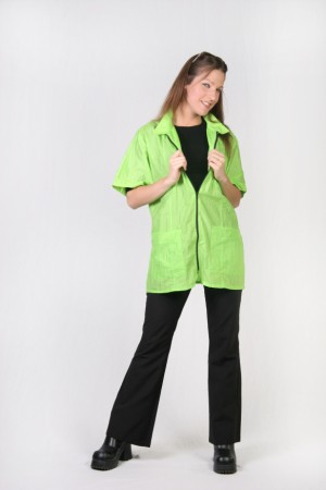 Lime Barber Nail Tech Jacket