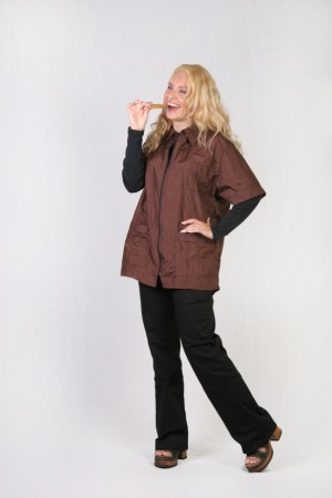 Dark Brown Barber Nail Tech Jacket-1