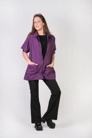Plum Barber Nail Tech Jacket