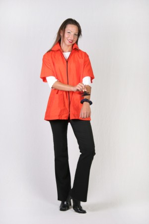 Overstock Orange Barber Nail Tech Jacket-1