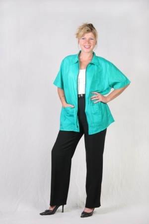Green Teal Barber Nail Tech Jacket