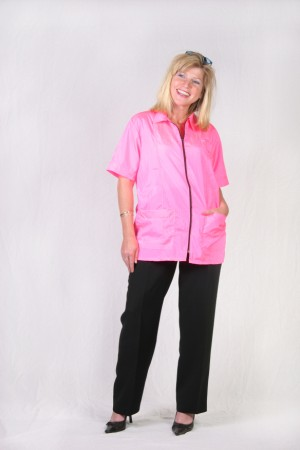 Hot Pink Barber Nail Tech Jacket