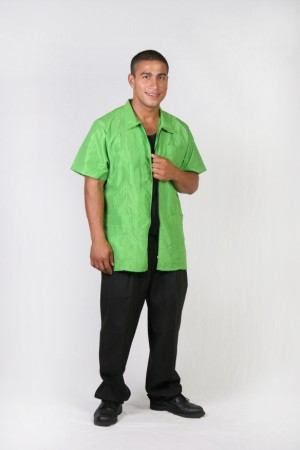 Green Apple Barber Nail Tech Jacket